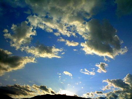 雲の陰影が美しく。