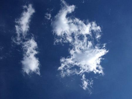 青空と白い雲と。